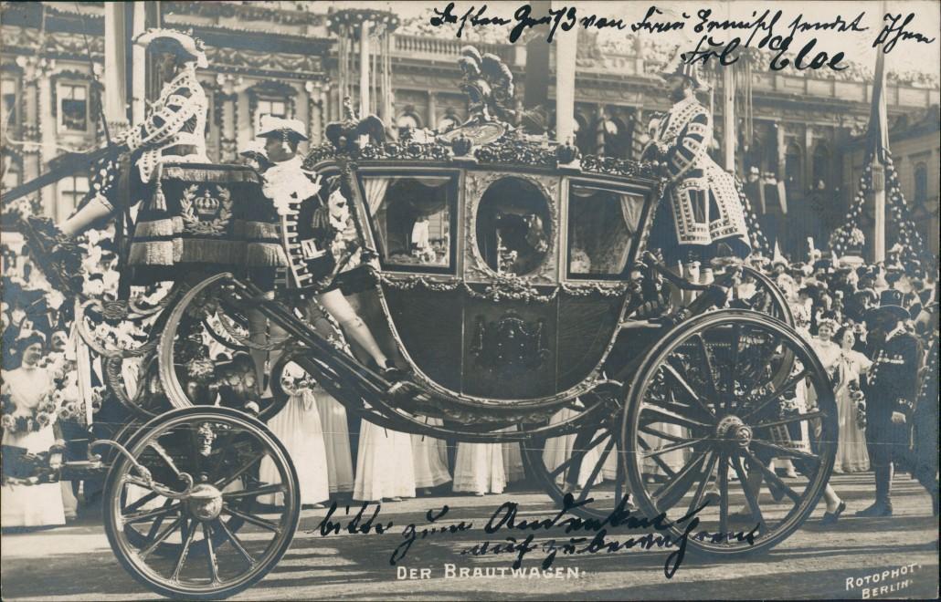 Ansichtskarte Mitte-Berlin Stadtschloss Brautwagen Adel Festschmuck 1905 0