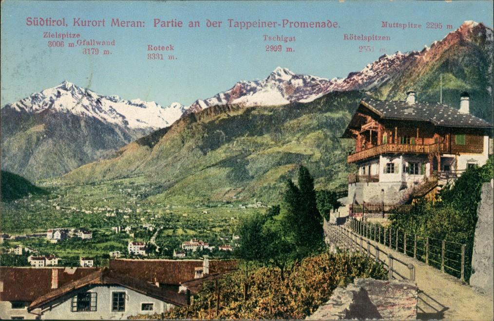Cartoline Meran Merano Südtirol Tappeiner-Promenade 1913 0