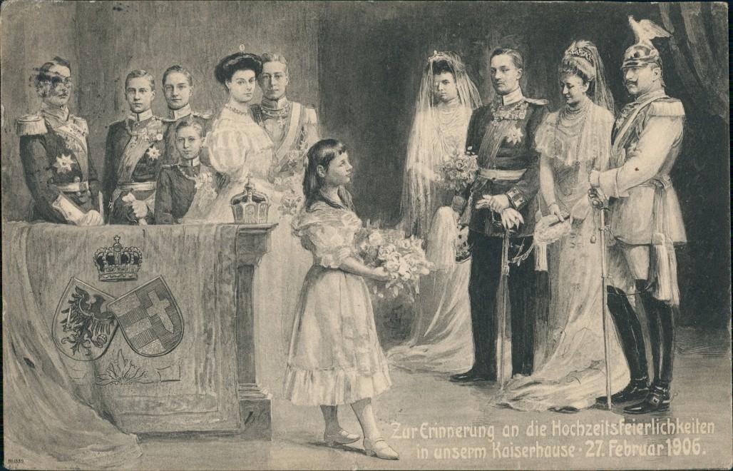 Zur Erinnerung an die Hochzeitsfeierlichkeiten unserm KaiserHause 27. Feb  1906 0