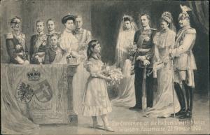 Zur Erinnerung an die Hochzeitsfeierlichkeiten unserm KaiserHause 27. Feb  1906