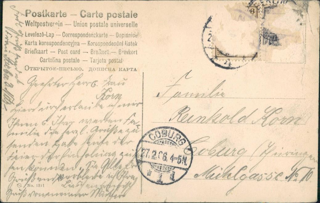 Zur Erinnerung an die Hochzeitsfeierlichkeiten unserm KaiserHause 27. Feb  1906 1