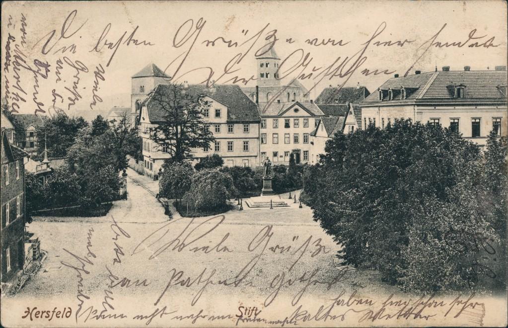 Ansichtskarte Bad Hersfeld Straßenpartie Stift 1907 0