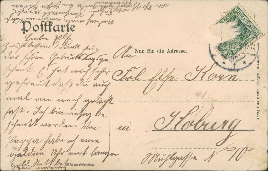 Ansichtskarte Bad Hersfeld Straßenpartie Stift 1907 1
