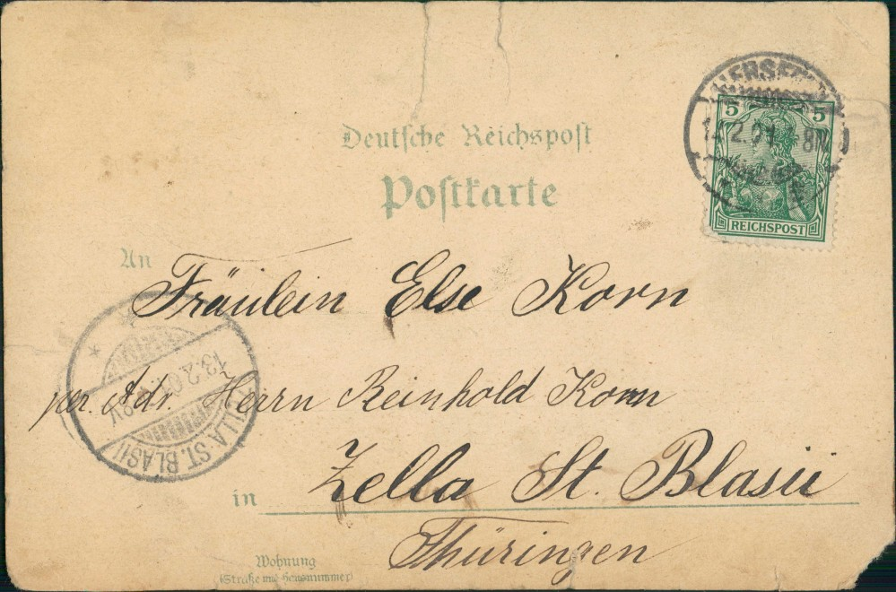Ansichtskarte Litho AK Bad Hersfeld MB Verein Straße Innen 1901 1