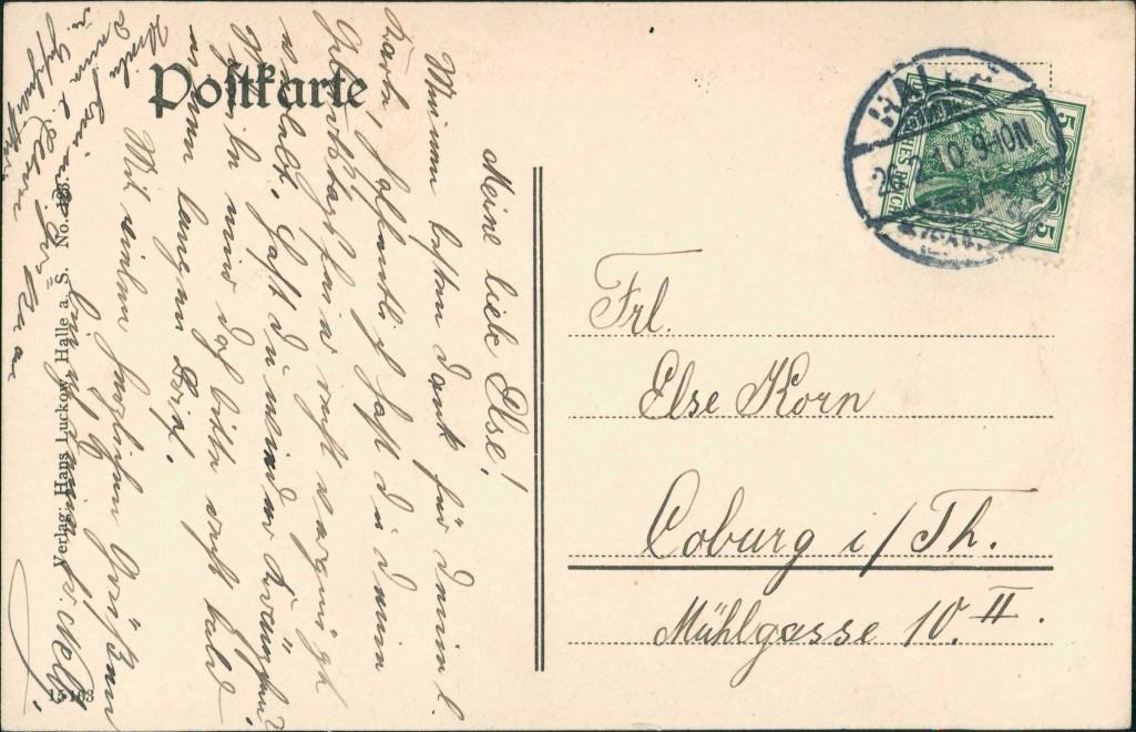 Ansichtskarte Halle (Saale) Bergschenke Saalepartie 1910 1