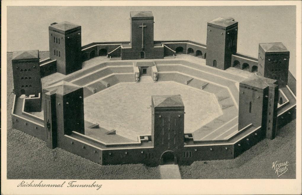 Postcard Tannenberg Stębark National Denkmal Modell 1936 0