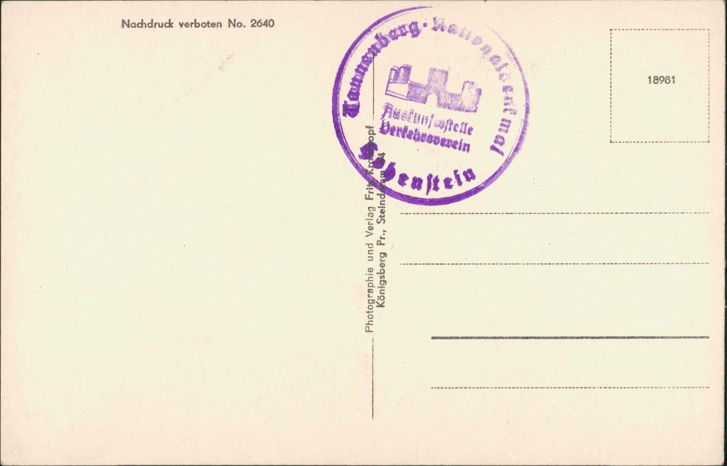 Postcard Tannenberg Stębark National Denkmal Modell 1936 1