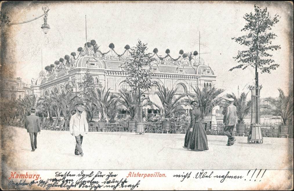 Ansichtskarte Hamburg Alsterpavillon - Künstlerkarte 1905 0