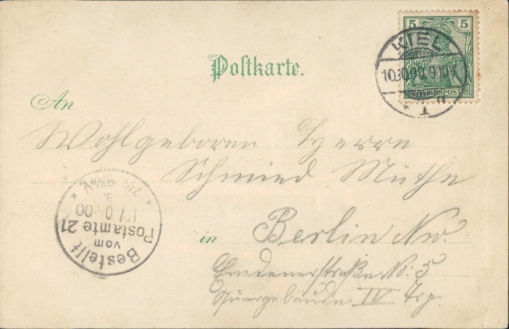 Holtenau-Kiel Holtenå Kaiser-Wilhelm-Kanal Halt gegen das Licht 1900 1