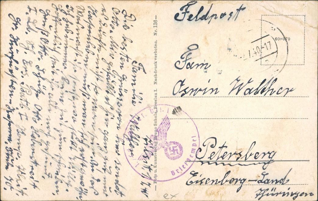 Postcard Tilsit Советск Straßenpartie Ordenskirche 1940 1