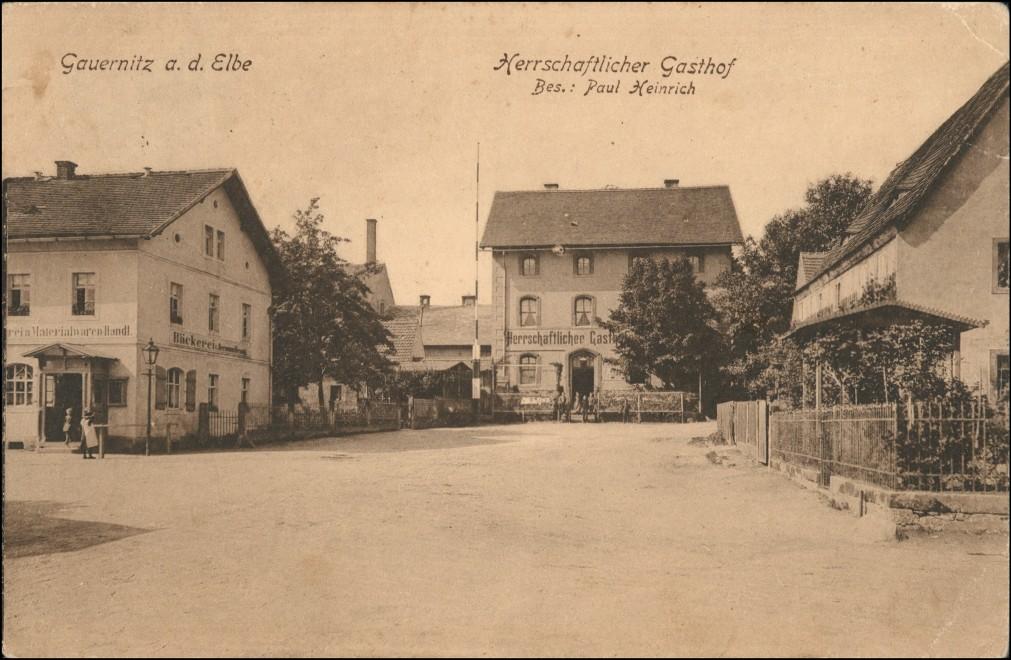 Ansichtskarte Gauernitz-Klipphausen Herrschaftlicher Gasthof 1911 0