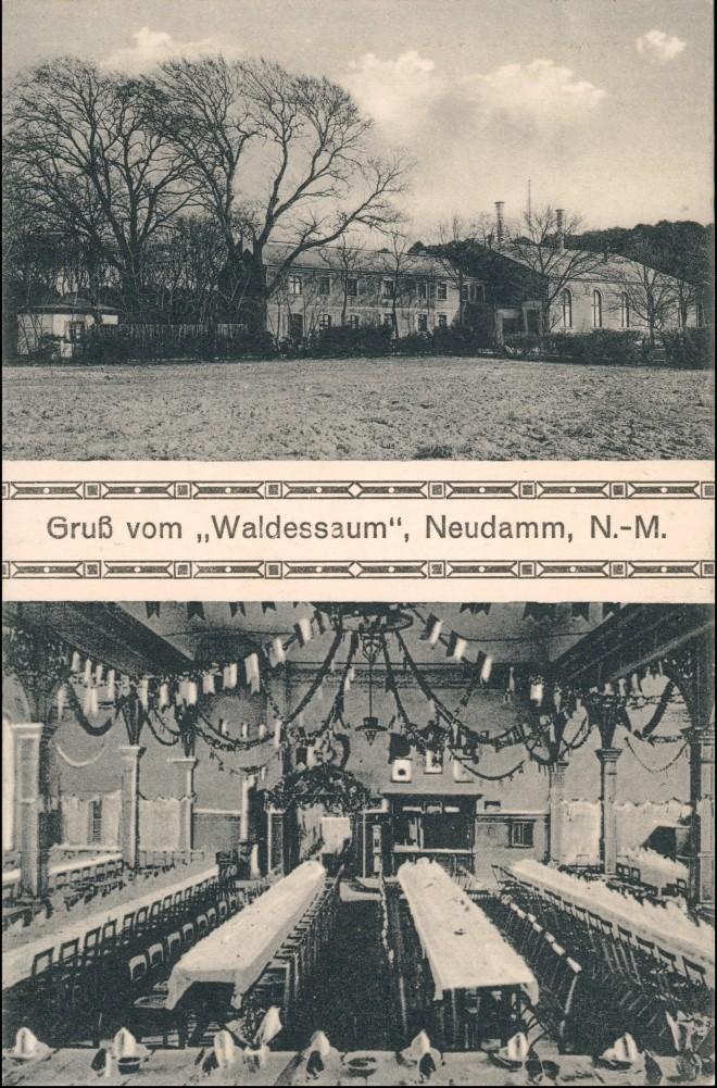 Neudamm (Neumark) Dębno 2B Waldessaum Kr. Königsberg Neumark Chojna 1916 0
