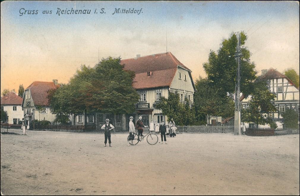 Reichenau in Sachsen Bogatynia Straße Mitteldorf Oberlausitz Zittau 1920 0