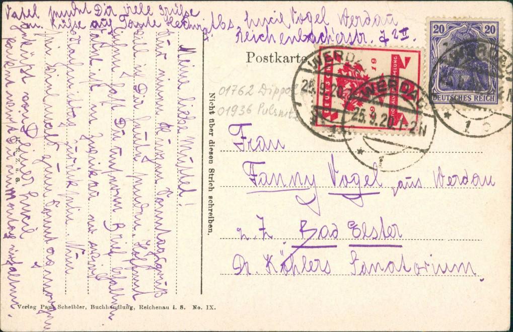 Reichenau in Sachsen Bogatynia Straße Mitteldorf Oberlausitz Zittau 1920 1