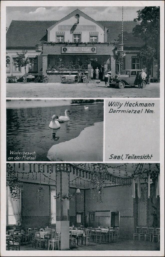 Darrmietzel Dargomyśl 3 B: Gasthaus - Auto b Neudamm Königsberg Neumark 1941 0