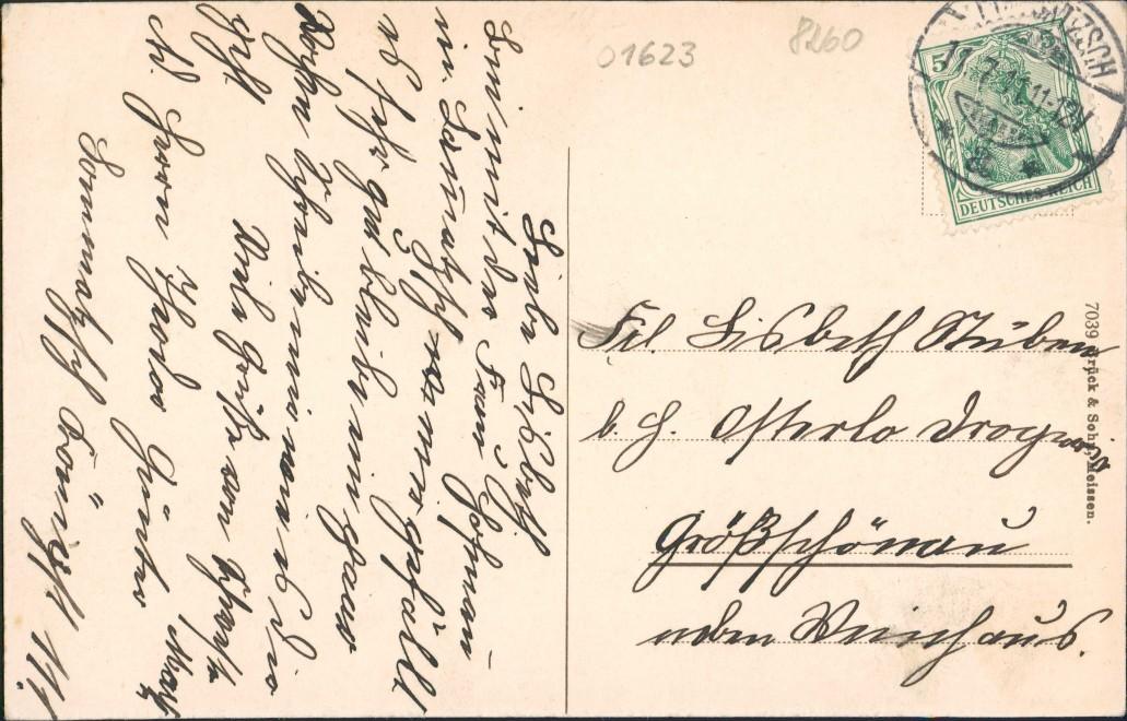 Ansichtskarte Lommatzsch Königstraße 1911 1