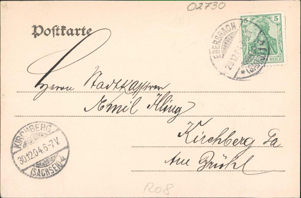 Ebersbach/Sa.-Ebersbach-Neugersdorf Bahnhofstraße Fabrik Bern Clemens 1904 1