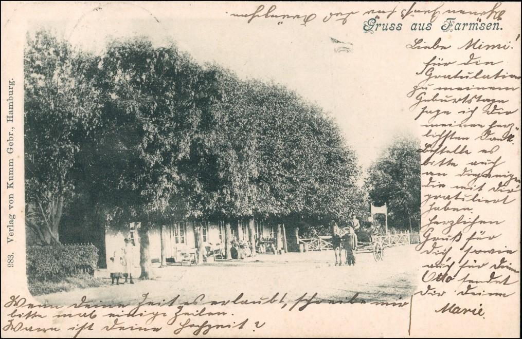 Ansichtskarte Altrahlstedt-Hamburg Framsen - Straße, Gasthaus 1901 0