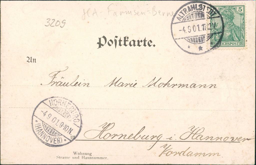 Ansichtskarte Altrahlstedt-Hamburg Framsen - Straße, Gasthaus 1901 1