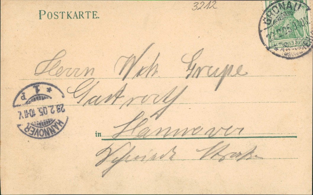 Ansichtskarte Gronau (Leine) Windmühle Jugendstil Künstlerkarte 1905 1