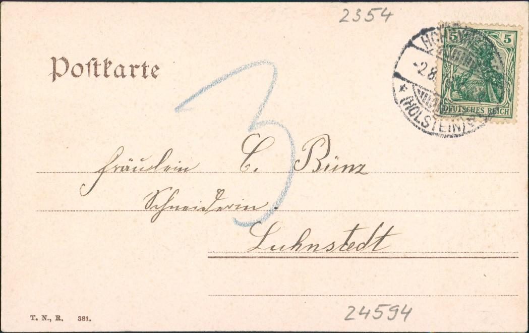 Ansichtskarte Hohenwestedt Straßenpartie Gasthaus 1904 1