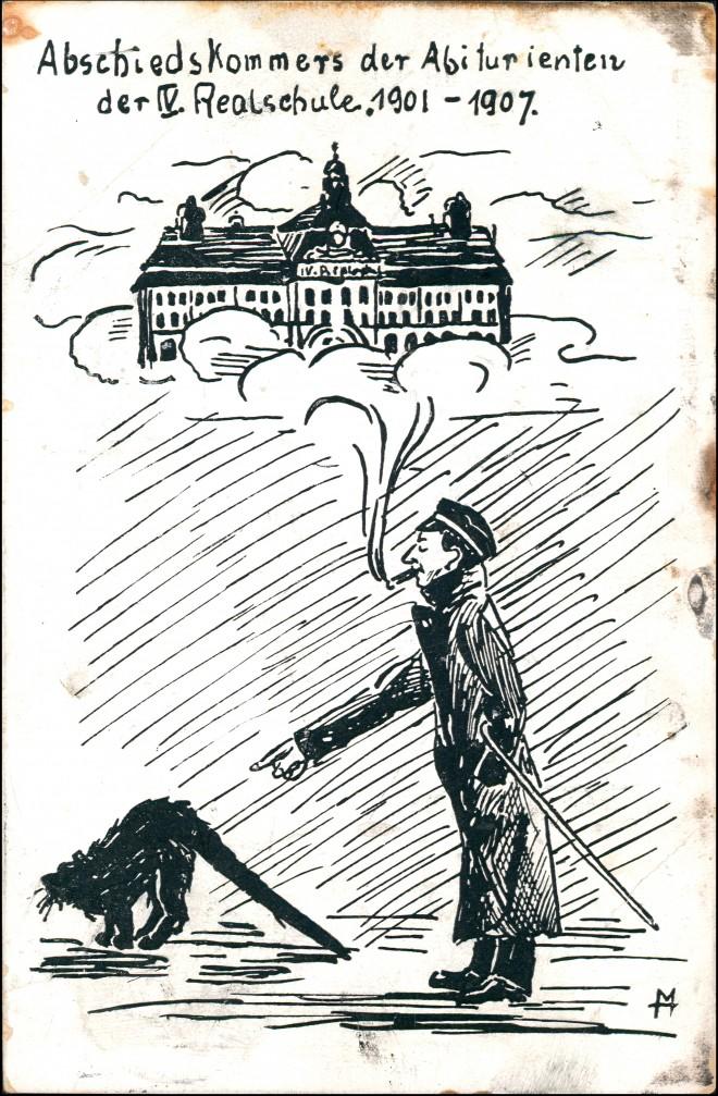Ansichtskarte Leipzig Künstlerkarte Abschied der Abiturienten 1907 0