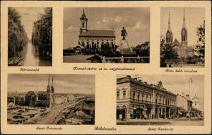 Tschabe Békéscsaba (Békešská Čaba/Bichisciaba) Stadt, Straßen 1938
