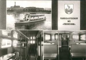 Magdeburg Fahrgastschiff DDR Schiff MS FROHSINN, Weiße Flotte Elbe 1982
