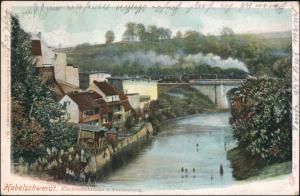 Postcard Habelschwerdt Bystrzyca Kłodzka Stadt Dampflok 1901
