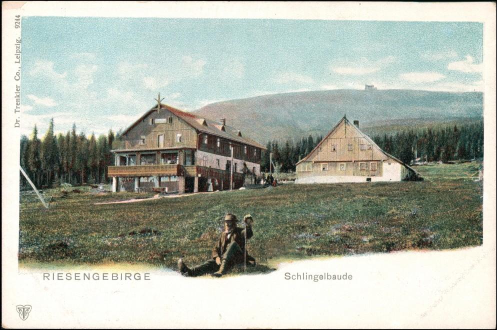 Postcard Krummhübel Karpacz Schlingelbaude Rübezahl 1904 0