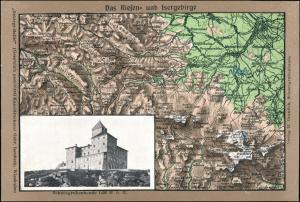Schreiberhau Szklarska Poręba Schneegrubenbaude Riesengebirge Relief 1911