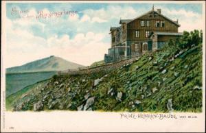 Postcard Krummhübel Karpacz Prinz-Heinrich-Baude 1908 Prägekarte