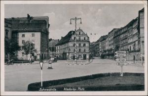 Postcard Schweidnitz Świdnica Niedertor Platz 1943