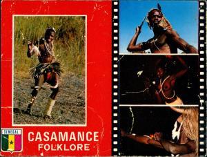 Postcard Dakar Casamance Native People Natives Krieger Senegal 1970