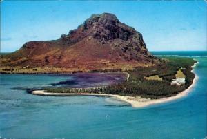 Mauritius Ile Maurice Le Morne Luftaufnahme Strand Hotelstrand Ozean 1980/0000