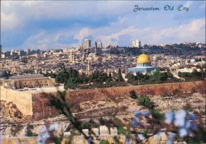 Jerusalem  (רושלים) Panorama-Ansicht Old City Vue Du Mont des Olivier 1980