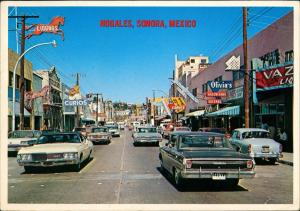 Nogales Sonora Mexico Street View Obregon Avenue Autos Cars 1960
