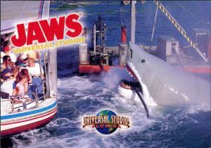 Postcard Orlando Universal Studios JAWS Hai Attacke (Film-Studio) 2000