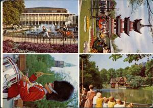 Kopenhagen København Tivoli Mulit-View Card, Mehrbildkarte 1975