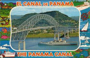 Panama-Stadt Panamá PUENTE DE LAS AMERICAS Sobre el Canal Panamakanal 1970