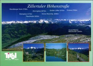 Ansichtskarte .Tirol Alpen Zillertal -Tirol Zillertaler Höhenstraße 1990