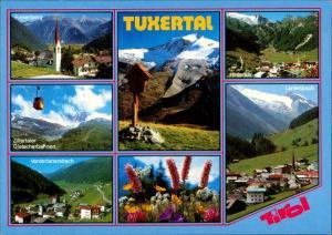 Tuxertal (Region) Tuxertal MB-AK 7 Ansichten ua. Zillertaler Gletscherbahn 1990