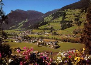 Hippach Blumengrüße RAMSAU HIPPACH Blick Penken, Zillertal / Tirol 1990
