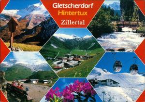 Hintertux-Tux (Tirol) Gletscherdorf Hintertuxer Gletscher Zillertal Tirol 1990
