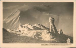 Krummhübel Karpacz Schneekoppe Brunnberg Stimmungsbild 1928 Walter Hahn:7054