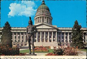 Postcard Salt Lake City Capitol building 1974