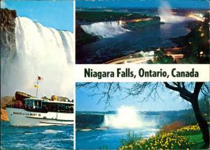 Niagara Falls (Ontario) Niagarafälle Niagara Falls Wasserfall Schiff Maid  1980