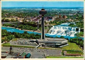 Niagara Falls (Ontario) Niagara Falls Waterfall Wasserfall Luftaufnahme 1970