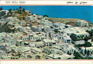 Postcard Sidi Bou Saïd Panorama-Ansicht Blick über die Stadt 1997