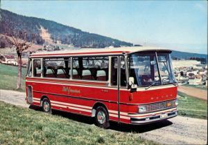 Ansichtskarte  AVY Tours Reisebus Bus SETRA Reklamekarte 1960